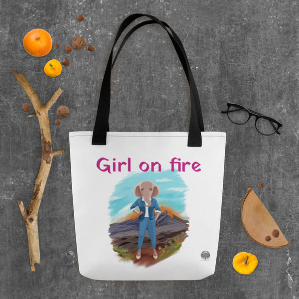 Tote bag GIRL ON FIRE