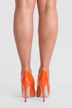 Kate Perspex Court Heel In Orange Patent