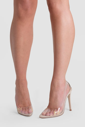 Kate Perspex Court Heel In Clear Patent
