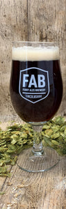 FAB 2/3rd pint taster glass - Ferry Ales Brewery