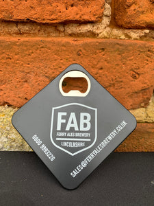 Bottle opener and Coaster - Ferry Ales Brewery