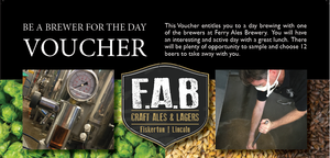Be a brewer for a day voucher - Ferry Ales Brewery