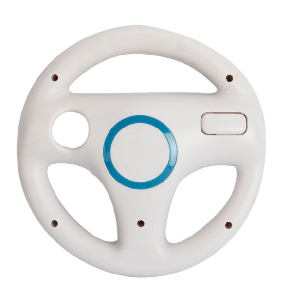 Hot White Plastic Steering Wheel For Nintendo for Wii Mario Kart Racing Games Remote Controller Console Free Shipping