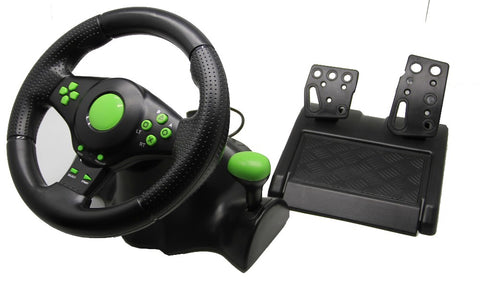 2018 Wired USB Vibration Feedback racing wheel for ps3 Steering Wheel work for XBOX 360/ PS2/PS3/ PC (3 in 1) with free shipping