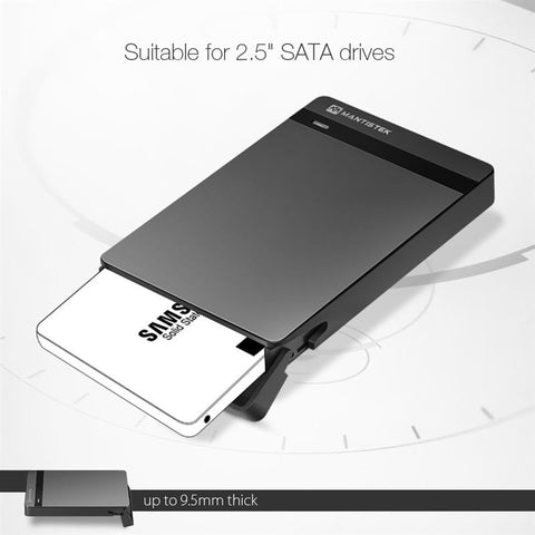 2.5 HDD Enclosure 2.5 SATA III USB 3.0 SSD Enclosure External HDD Case Support UASP For Mac OS Windows System