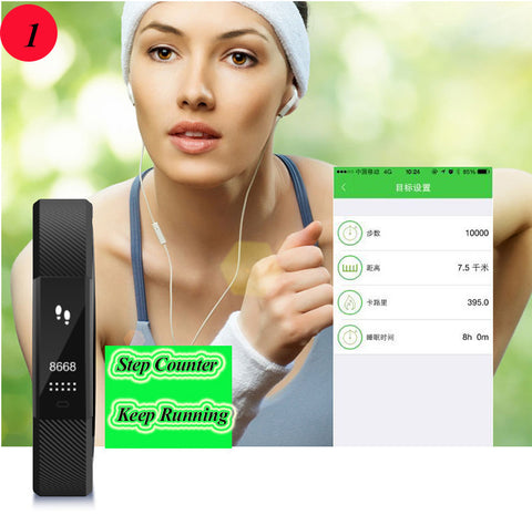 Smart Bracelet Fitness Tracker Step Counter Activity Monitor Band Alarm Clock Vibration Wristband for iphone Android phone