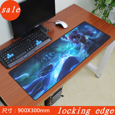 Large locking edge League of Legends Gaming Mouse Pad