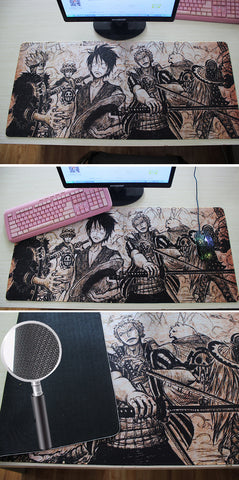 Grande 90*40 cm One Piece Mouse Pad Gaming Mouse Pad Large Cartoon Anime