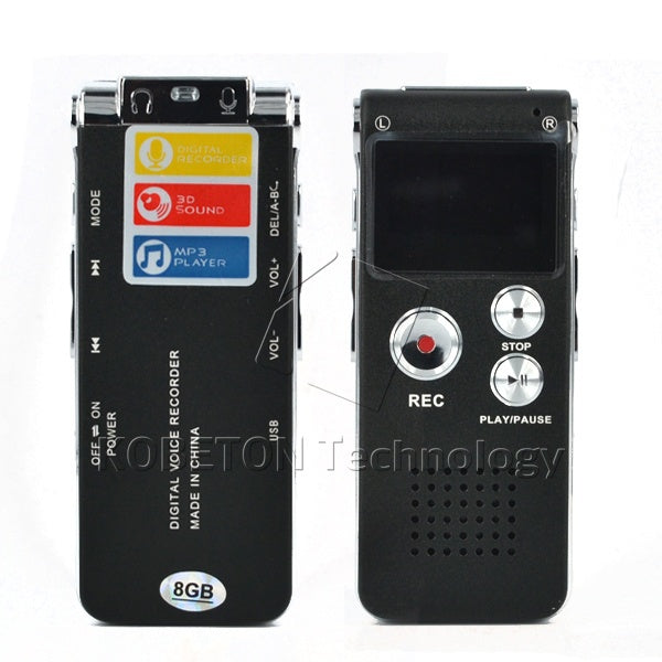 Mini USB Flash Pen Recorder Disk Drive 8GB Digital Audio Voice Recorder 650Hr Dictaphone 3D Stereo MP3 Player