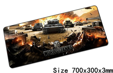 World of tanks mouse pad 700x300x3mm pad mouse notbook computer padmouse hot gaming mousepad gamer to keyboard mouse mats