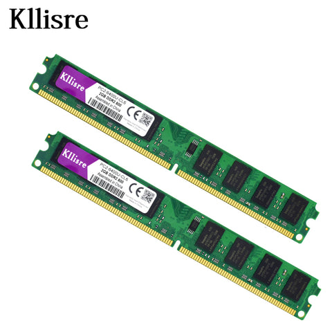 4GB(2pcsX2GB) DDR2 2GB Ram 800Mhz PC2-6400U 240Pin 1.8V CL6 Desktop Memory