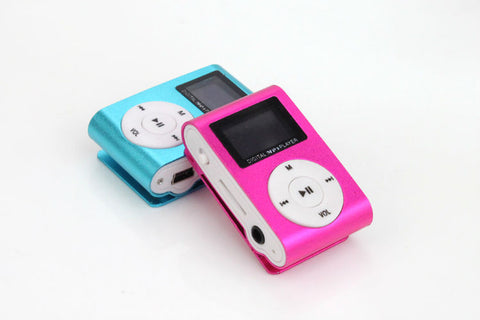 Superior Mini USB Metal Clip MP3 Player LCD Screen Support 32GB Micro SD TF Card Slot Digital mp3 music player