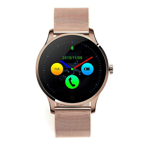 Smart Watch 1.22 Inch Round Screen Support Heart Rate Monitor Bluetooth SmartWatch For Apple Huawei IOS Android