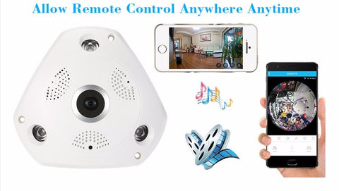 Wirelss VR 360 Camera Fisheye Security Surveillance System 960P IP Camera 360 Action Camera Panorama Camera Night Vision
