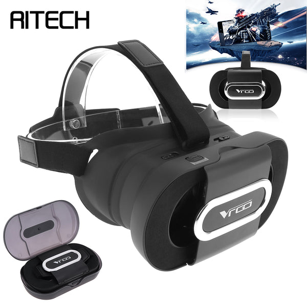 Foldable Portable Head-mounted 3D Virtual Reality Glasses With AR Function