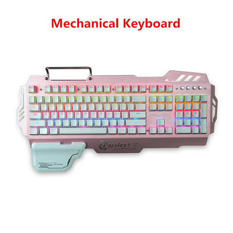 Mechanical Keyboard for Gamers Colormix Backlit 104 Keys Gaming Keyboard with Phone Holder