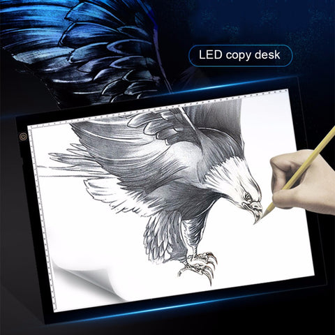 A3 Portable LED Drawing Board Eyesight Protection Touch Dimmable Tracing Table Light Pad Box for 2D Animation Sketching