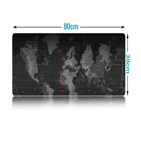 80*30cm Large Gaming Mouse Pad world map Mousepad Locking Edge For Laptop PC Mousepad for dota2 Mat for CF Dota2 CS FPS