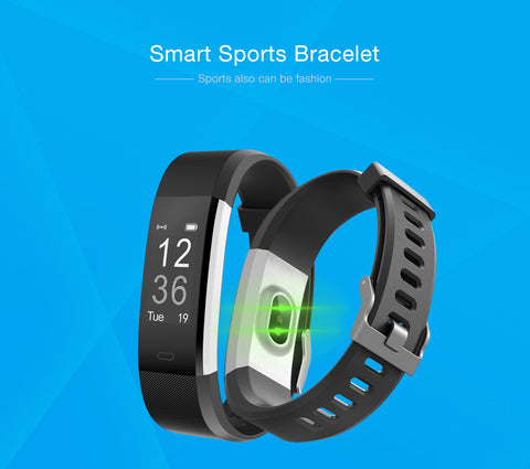 ID115 HR Plus Smart Bracelet Fitness and Sleep Tracker Pedometer Heart Rate Monitor Smart band Wristband