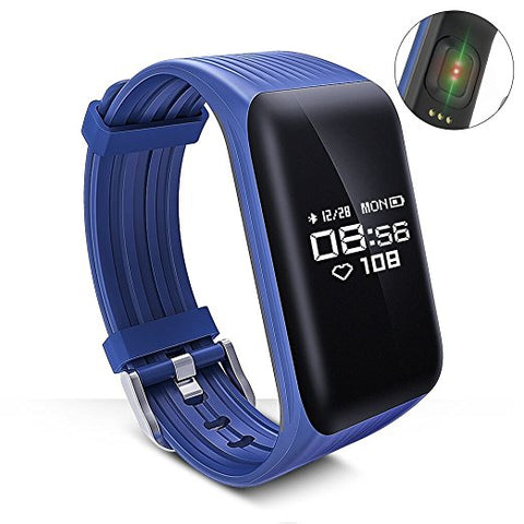 New Fitness Tracker Smart Bracelet Real-time Heart Rate Monitor down to sec Charging 2 hours Using 1 weeks waterproof watch