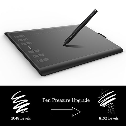 1060 Plus Pen Tablet Graphic Drawing Tablet with 8 GB Built in Card Reader Artist Glove 8192 Levels Digital Tablet
