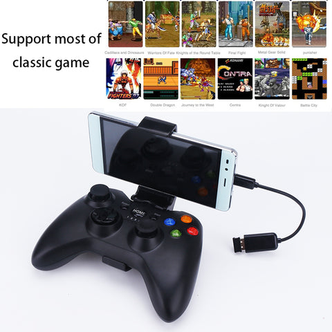 360W 2.4G Wireless Android Gamepad Joystick Controller Joypad with Phone Holder for PC Mobile Phone TV box for Windows