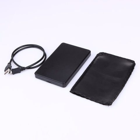 2.5 Inch Slim Portable HDD Enclosure USB 2.0 External Hard Disk Case SATA Hard Disk Drives HDD Case with USB Cable and Pouch