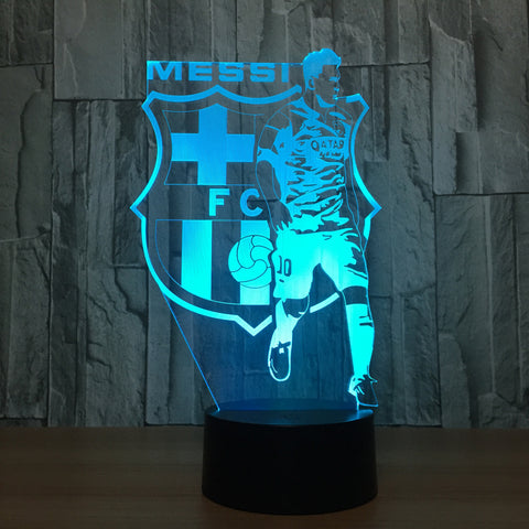 3D Visual illusion lamp Transparent Acrylic Night Light LED fairy Lampa Color changing Touch Table bulbing lambas Football 2017
