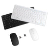 Wireless Keyboard Mouse Combo 2.4GHz Mini Keyboard Ultra-Thin Mouse Combo Set For Desktops Laptops