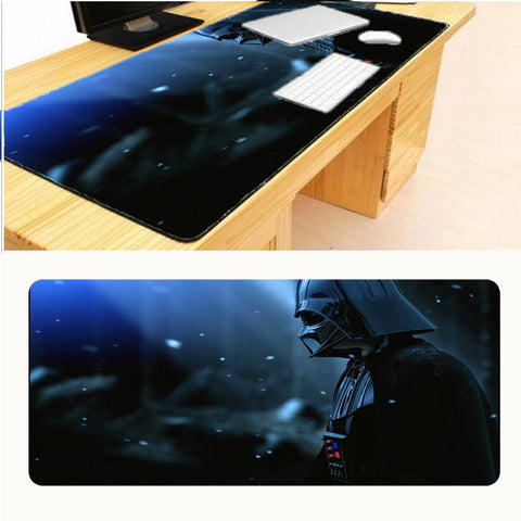Star Wars Darth Vader Print Locking Edge Rubber Large Mousepads for Cs Go Mat DIY Design Computer Gaming  Mouse Pad