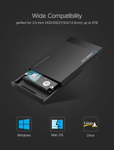 HDD Case 2.5 inch SATA to USB 3.0 SSD Adapter for Samsung Seagate SSD 1TB 2TB Hard Disk Drive Box External HDD Enclosure