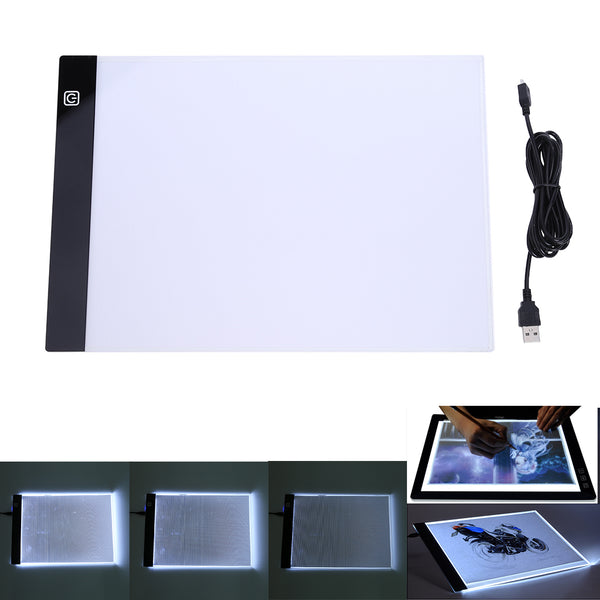 A4 LED Writing Painting Light Box Tracing Board Copy Pads Drawing Digital Tablet Artcraft 13.15x9.13inch A4 Copy Table LED Board