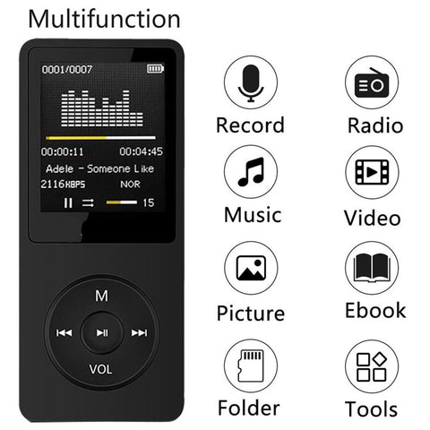 2018 USB Mini MP4 Player LCD Screen Support Max 32GB Micro SD TF Card New Portable MP4 Music Player LCD Screen wholesale