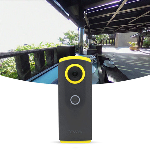TWIN 360 Degree Video Camera - Remote Control with Smart Phone