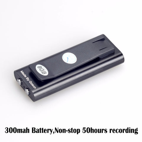 New Mini Clip USB Pen 8GB Voice Activated Digital Audio Voice Recorder Mp3 Player Non-stop 50hours Recording Retail Box