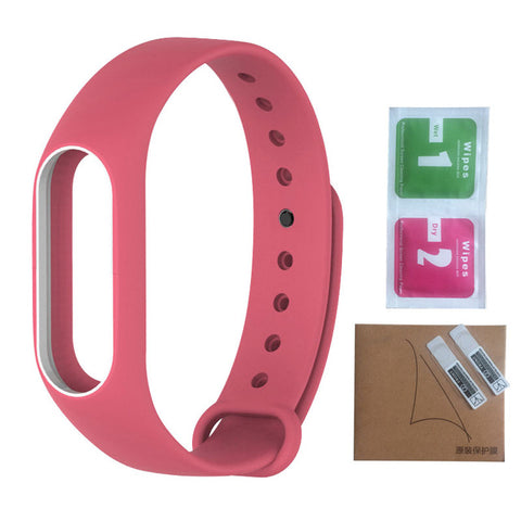 Colorful Replace Strap for Xiaomi Mi Band 2 Silicone Wristbands for Xiaomi Band 2 Smart Bracelet 10 Color Smart Band Accessories