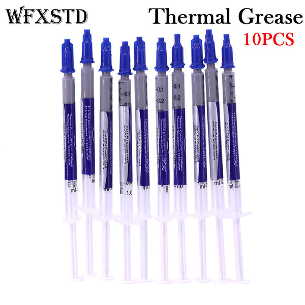 WFXSTD 10PCS New Thermal Grease Paste Compound Silicon Scraper CPU HeatSink Processor GPU Cooling silicone Fan Thermal Paste