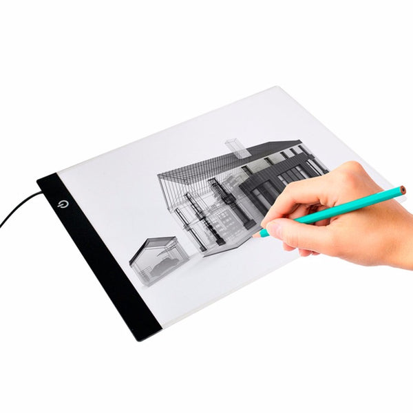 Newest Dimming LED Luminous Animation Painting Copy Writing Board Ultra-thin Light Pad A4 Size Flat Touch Art Tracing Board