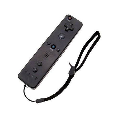 Black Motion Sensor Remote Controller + Wired Nunchuck Combo for Nintendo Wii Console