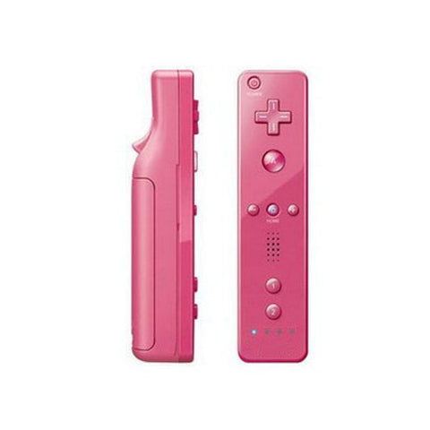 Pink 2 in 1 Remote Controller Built in Motion Plus + Nunchuck for Nintendo Wii Game