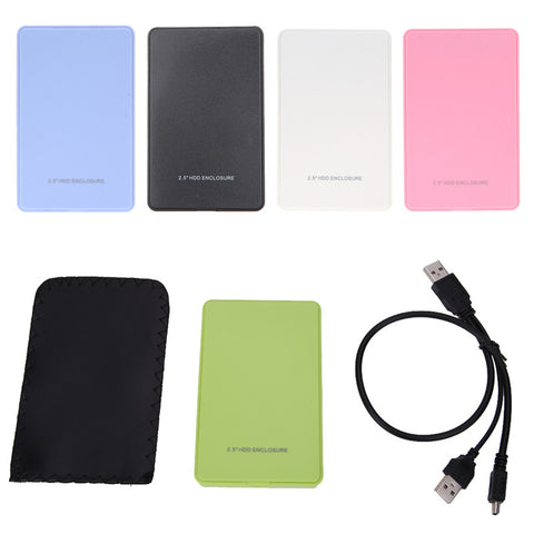 High Quality Slim Portable 2.5 HDD Enclosure USB 2.0 External Hard Disk Case SATA Hard Disk Drives HDD Case Plug And Play