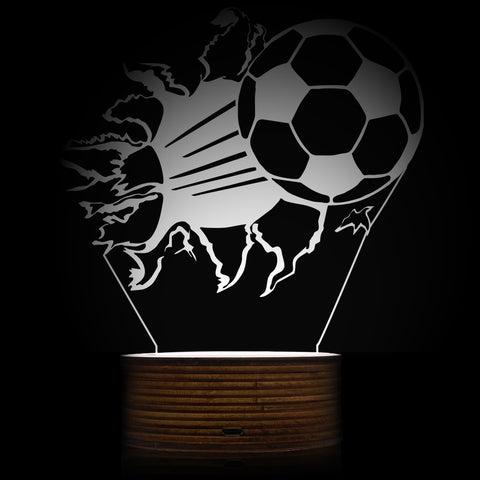 1Piece 3D Football Night Lamp Bursting Soccer 3D Optical illusion LED Lights Football Fans Decorative Lighting Glowing Led Lamp