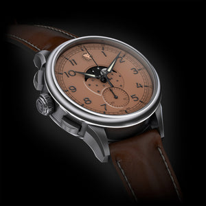 BORNOVA TRUVA MOONPHASE CHRONOGRAPH SALMON