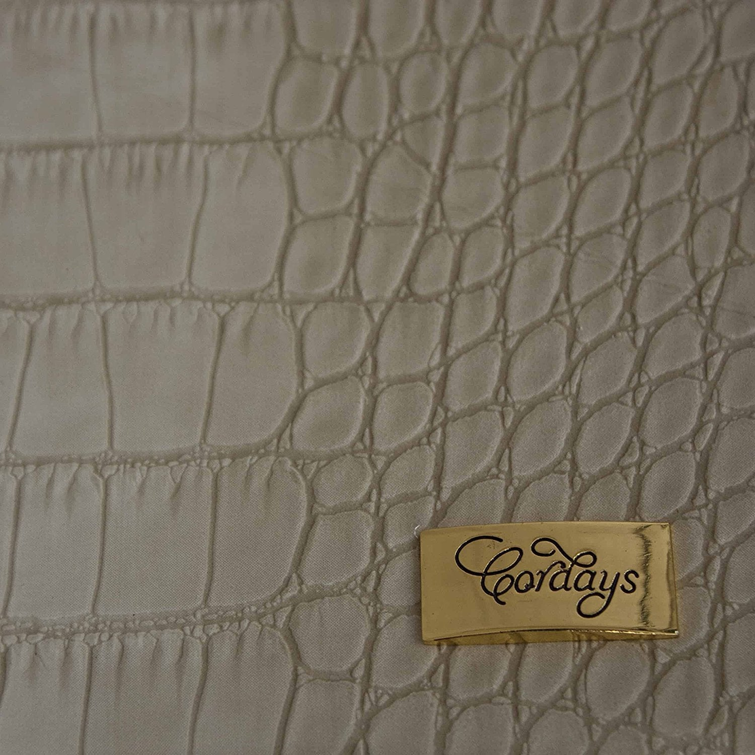 Desk Pad Set 5 pieces in Cream Textured Leatherette