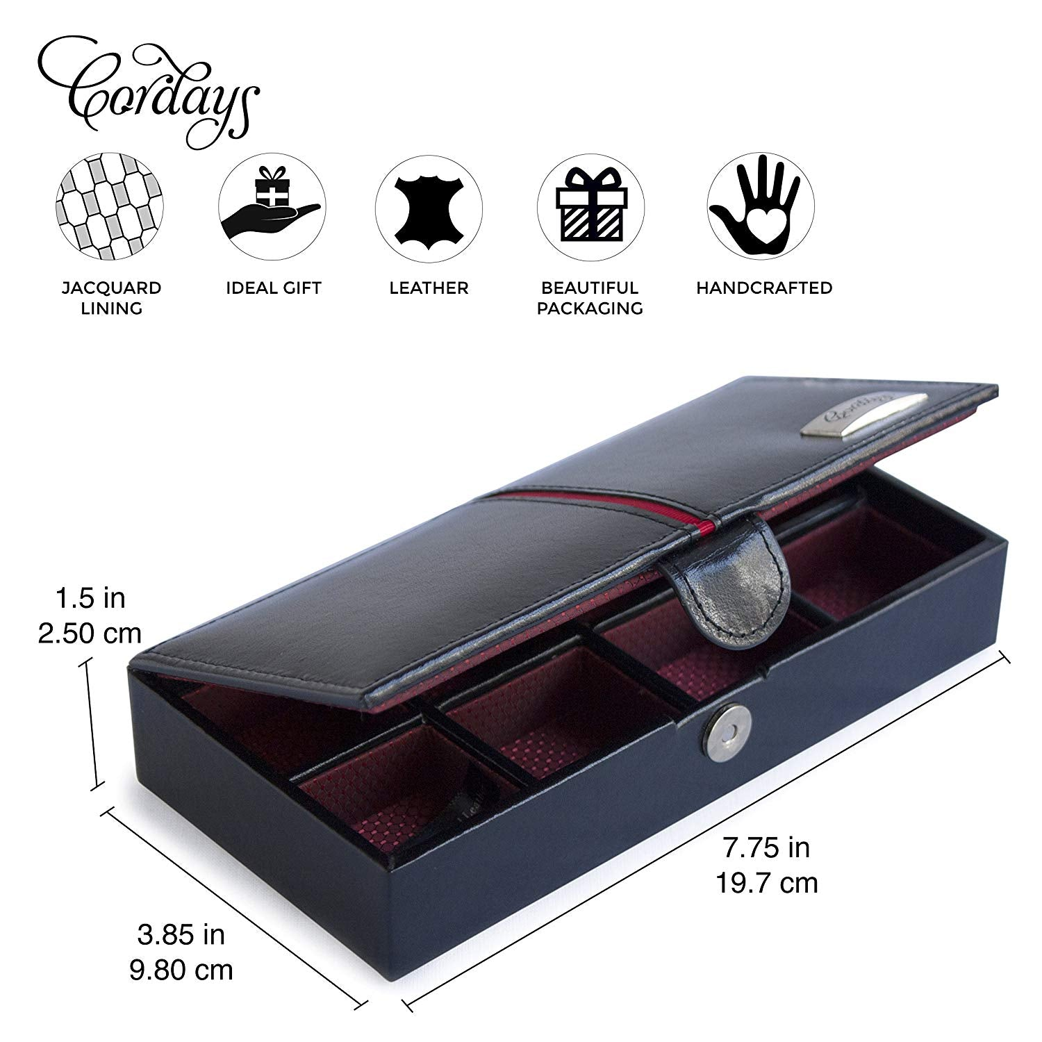 8 Grid Stud Case Travel Cufflink Box