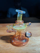 Bubbletrap Pattern Bottom Gold and Silver Fumed Rig  by Kaliber Glass