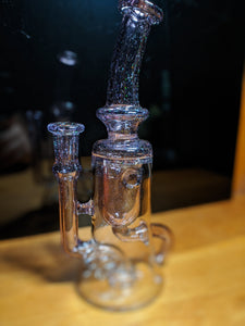 Dirge Glass Crushed Opal over Nightshade Internal Klein Recycler