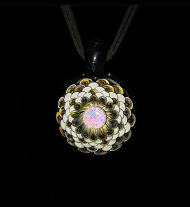 Juju Glass Dot Stack Pendant with 10mm Opal coin