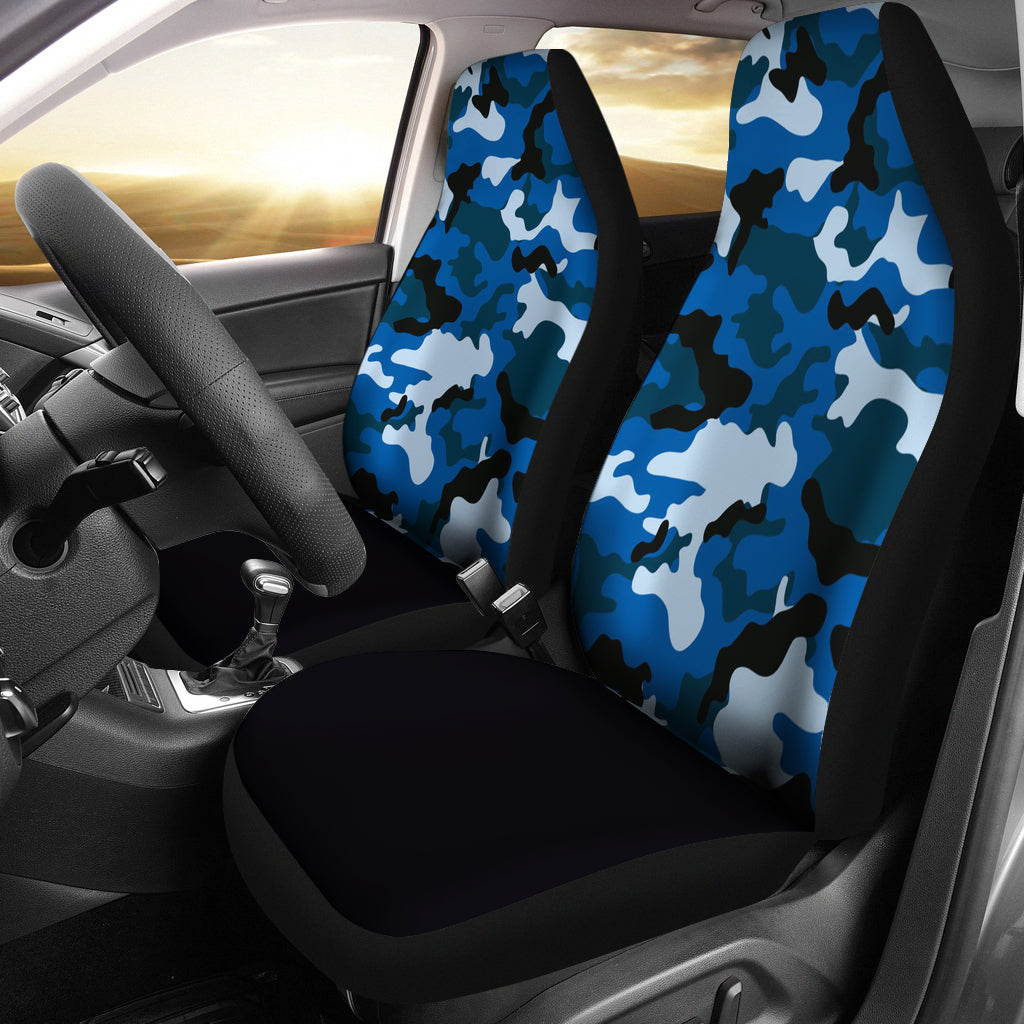 Blue Camouflage Car Seat Covers Myautogift