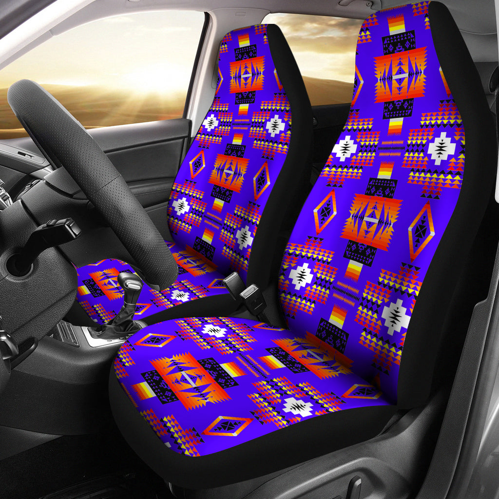 Seven Tribes Blue Car Seat Covers Myautogift